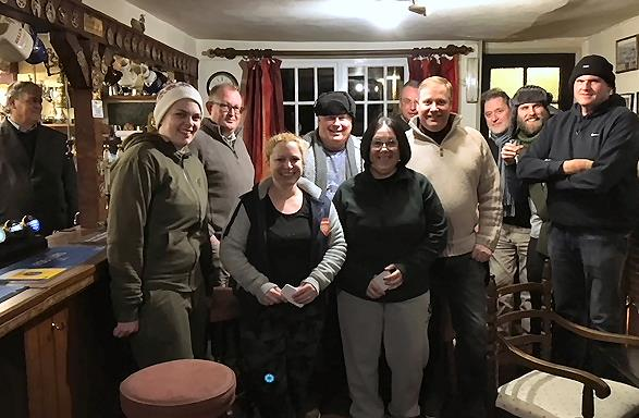 Photo of the group in the pub