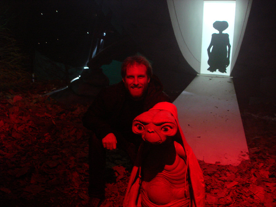 Photo of Shaun with ET