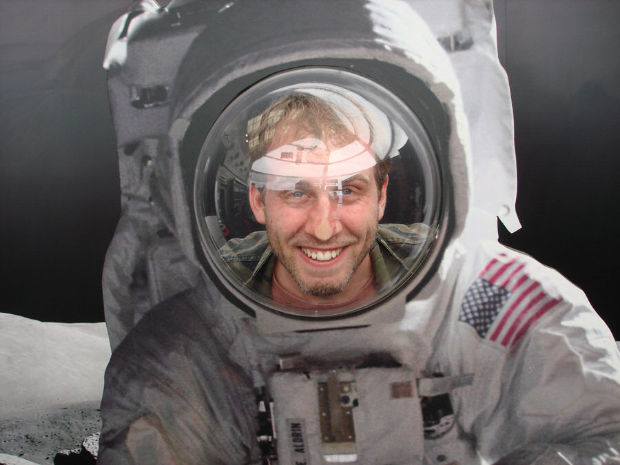 Photo of Shaun in a space suit